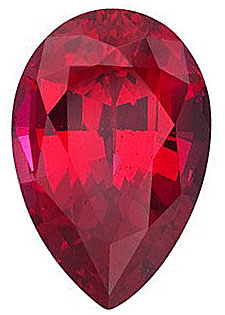 Chatham  Ruby Pear Cut in Grade GEM