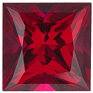 Chatham  Ruby Princess Cut in Grade GEM