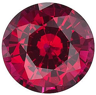 Chatham  Ruby Round Cut in Grade GEM