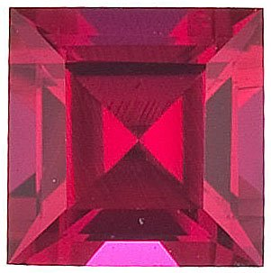 Chatham  Ruby Square Step Cut in Grade GEM