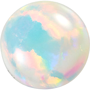 Chatham  White Opal Round Cut in Grade GEM