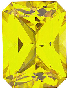 Chatham  Yellow Sapphire Emerald Cut in Grade GEM