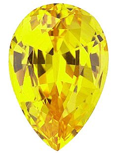 Chatham  Yellow Sapphire Pear Cut in Grade GEM