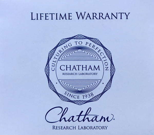 Chatham Yellow Sapphire Trillion Cut in Grade GEM