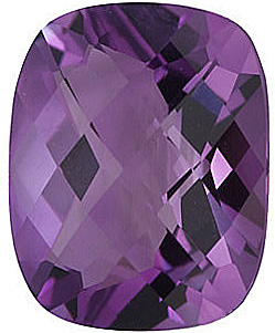 Checkerboard Antique Cushion Genuine Amethyst in Grade A