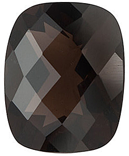 Checkerboard Antique Cushion Smokey Quartz in Grade AAA