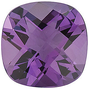 Checkerboard Antique Square Genuine Amethyst in Grade AA