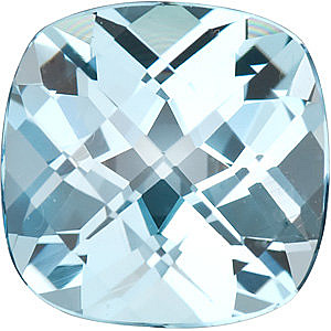 Checkerboard Antique Square Genuine Sky Blue Topaz in Grade AAA