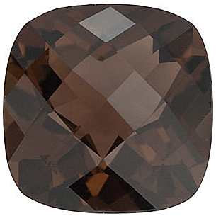 Checkerboard Antique Square Smokey Quartz in Grade AAA