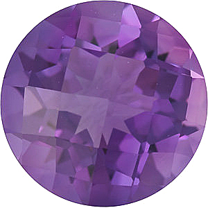 Checkerboard Genuine Amethyst in Grade A