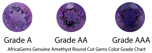 Checkerboard Genuine Amethyst in Grade AA
