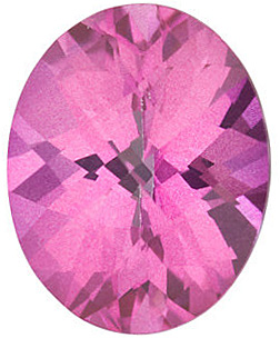 Checkerboard Oval Genuine Mystic Pink Topaz in Grade AAA