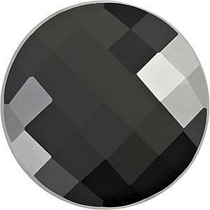 Checkerboard Round Black Onyx in Grade AAA