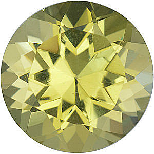 Checkerboard Round Genuine Lemon Quartz in Grade AA