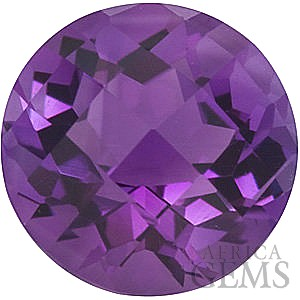 Natural Loose Checkerboard Round Shape Genuine Amethyst Loose High Quality Gemstone Grade AA 7.00 mm in Size 1.2 carats
