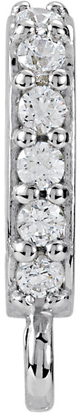 Chic 14kt Gold .06 CTW Diamond Accented Preset Bail with Vertical Ring - 5.50 x 2.30 mm Inside Dimension