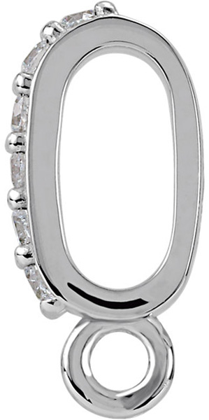 Chic 14kt Gold .06 CTW Diamond Accented Preset Bail with Vertical Ring  5.50 x 2.30mm Inside Dimension