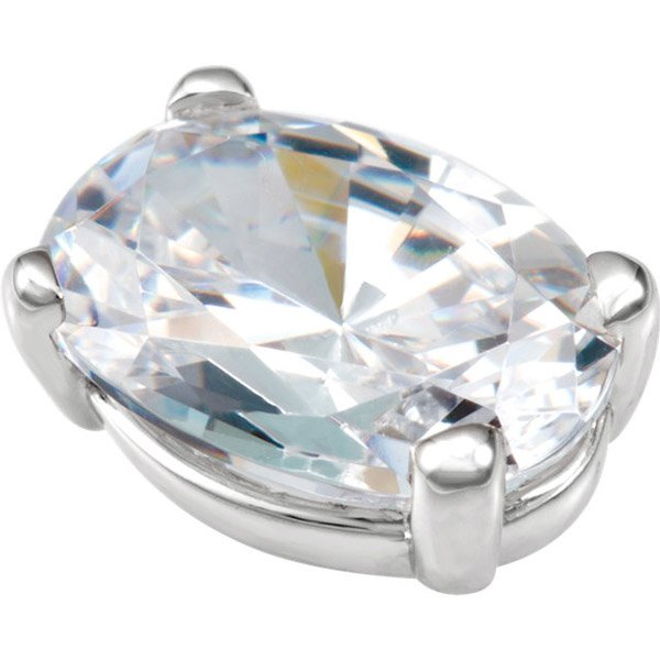 Chic 14kt Gold 4-Prong Low Base Setting for Oval Gemstone Sized 6.00 x 4.00 mm to 28.00 x 21.00 mm