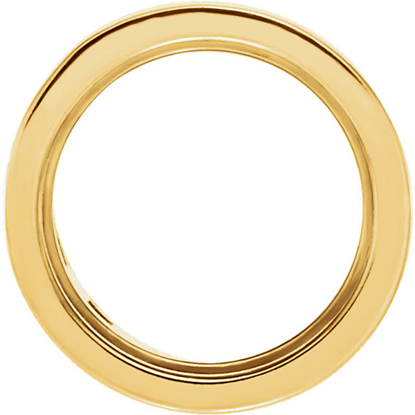 Chic 14kt Gold Bezel Setting Without Groove For Round Gemstones Sized 3.00 mm to 7.00 mm