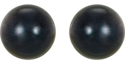 Chic Black Cultured Akoya Pearl Stud Earrings - 4mm - 8mm Size Range - Choose 14k White or Yellow Gold