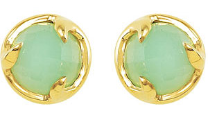 Choose Your Gemstone - Gorgeous Colored 10mm Gemstone Stud Earrings for SALE