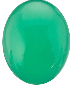Chrysoprase Oval Cabochon in Grade AAA