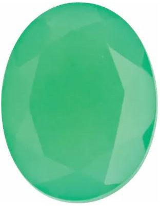 Chrysoprase Oval Faceted in Grade AAA