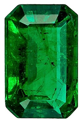Classic 0.46 carat Emerald Gemstone, Emerald shape, 5.8 x 3.8  mm