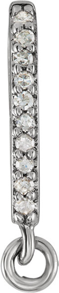 Classic 14kt .03 CTW Diamond Accented Preset Bail with Ring  3.50mm Inside Dimensions