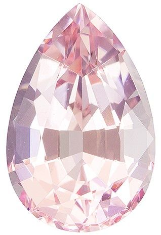 Classic 3.94 carats Pink Morganite Pear Genuine Gemstone, 13.1 x 8.5 mm
