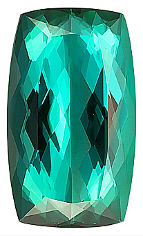 Classic Cut , Beautiful Blue/Green Genuine Tourmaline Gemstone, Antique Cushion Cut, 17.2 x 10.3 mm, 9.41 carats