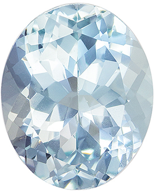 Classic Gem in  Blue Aquamarine Oval Cut, 3.21 carats, 11 x 8.9 mm