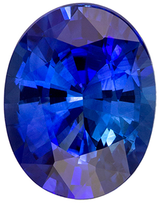 Classic Gem in Ring Stone Blue Sapphire Oval Cut, 2.13 carats, 8.9 x 6.9 mm