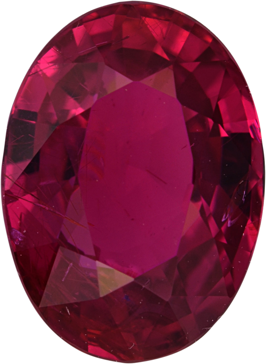 Classic  No Treatment Ruby Loose Gem in Oval Cut, Vibrant Purple Red, 8.88 x 6.50  mm, 2.1 Carats