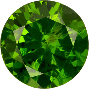 Classic Russian Demantoid Garnet Loose Gem in Round Cut, Rich Grass Green, 4.3 mm, 0.38 carats - SOLD