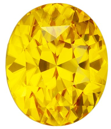 Classic Yellow Zircon 7.03 carats, Oval shape gemstone, 10.9 x 9.2  mm