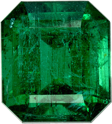 Clic Zambian Emerald Gemstone In Cut Rich Deep Green Color 9 3 X 8 Mm 48 Carats
