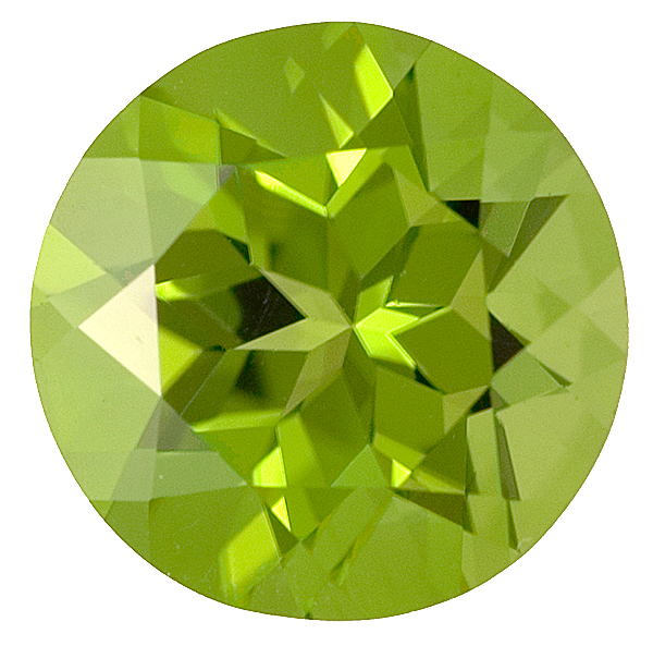 Classically Beautiful Round Kermit Green Unheated Peridot, 12.8mm, 8.58 carats