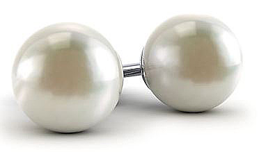 Classically Beautiful White Cultured Akoya Pearl Stud Earrings - 4mm - 8mm Size Range - Choose 14k White or Yellow Gold