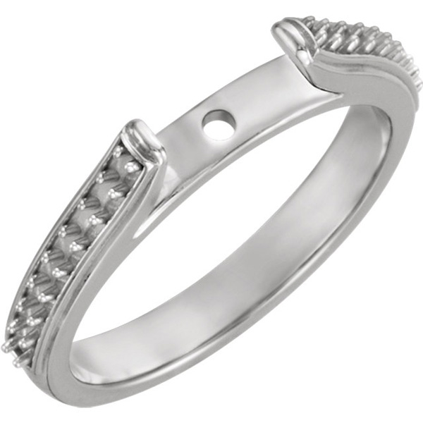 Classy Cathedral Style Diamond Accented Shank for Peg Setting With Span Options 4.00 mm - 6.95 mm