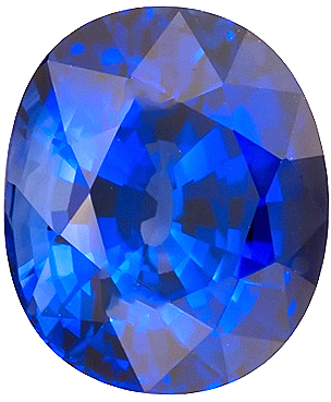 Clean & Royal Blue Sapphire Gemstone for SALE, Oval Cut, 3.56 carats