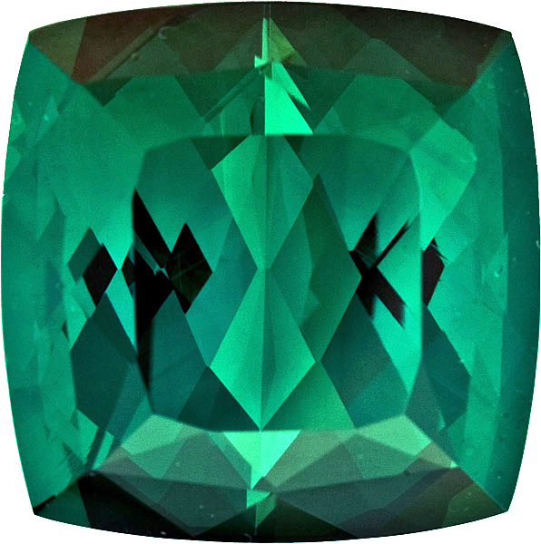 Collector Gem in Large Tourmaline, German Cut, Brilliant Fine Open Blue Green Color in Jumbo 20.0 mm, 43.22 carats