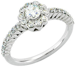 Continuum Sterling Silver 1/2 Carat TW Diamond Engagement Ring