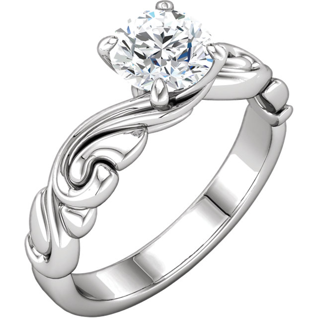 Easy Gift in Continuum Sterling Silver 1 Carat Diamond Engagement Ring