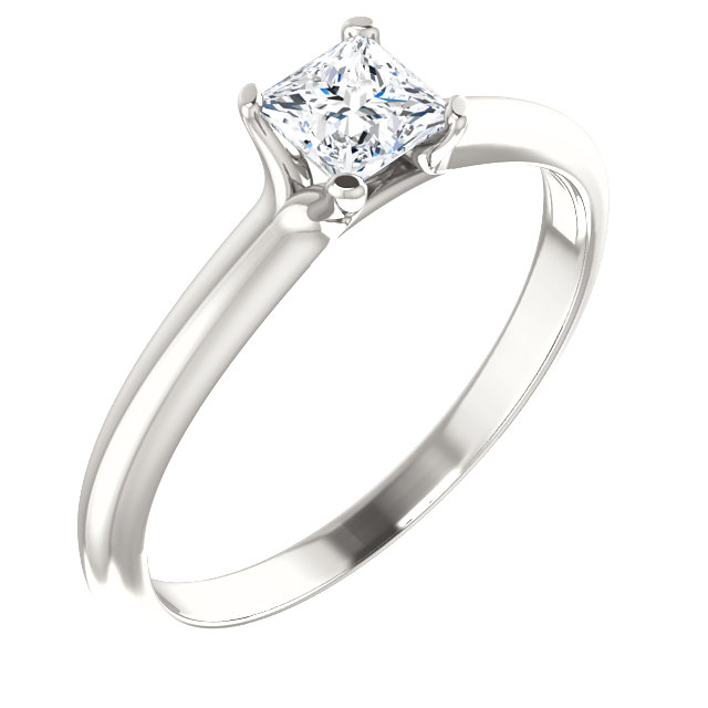 Very Nice Continuum Sterling Silver 0.40 Carat Diamond Engagement Ring