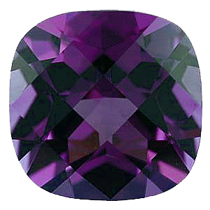 Created Imitation Alexandrite Gemstone, Antique Square Shape, 12.00 mm in Size