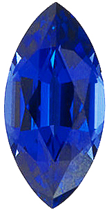 Created Imitation Blue Sapphire Gem, Marquise Shape, 6.00 x 3.00 mm in Size