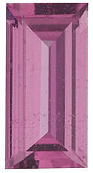 Created Imitation Pink Tourmaline Gemstone, Baguette Shape, 4.00 x 2.00 mm in Size