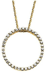 Created Moissanite Necklace