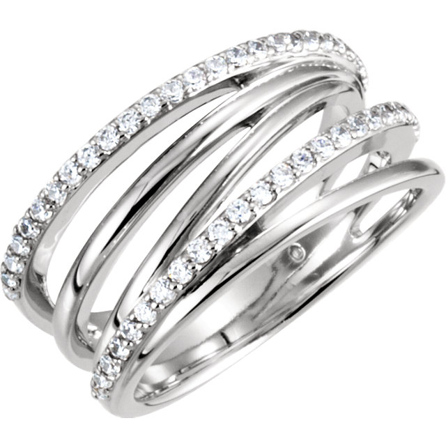 Surprise Her with  Criss-Cross Ring